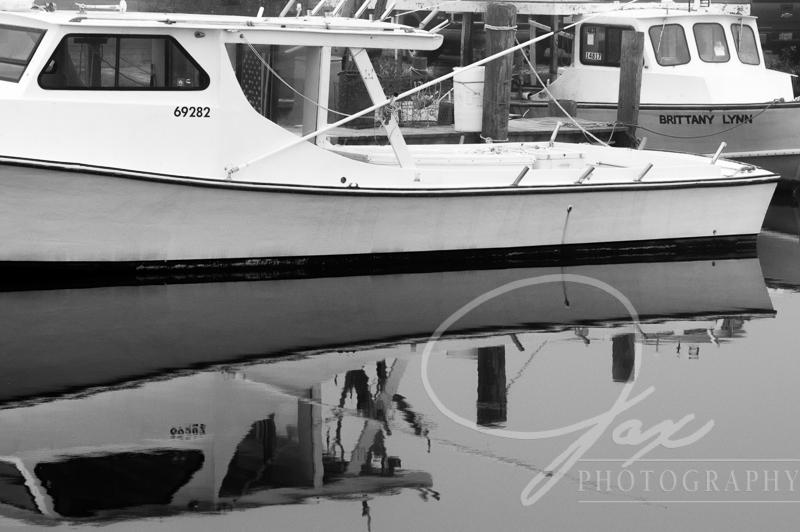 fine art photography Fishing Boat reflection